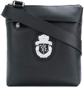 Billionaire logo crest shoulder bag