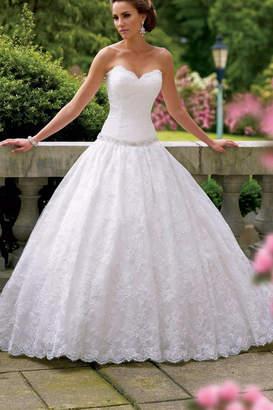 David Tutera For Mon Cheri Strapless Bridal Gown