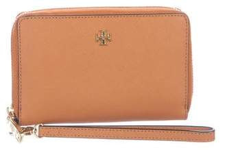 Tory Burch Saffiano Leather Zip-Around Wallet