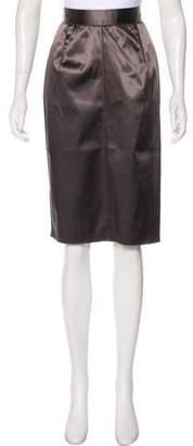 Dolce & Gabbana Satin Knee-Length Skirt