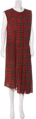 R 13 Plaid Midi Dress
