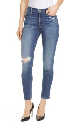 Frame Le High Waist Skinny Jeans