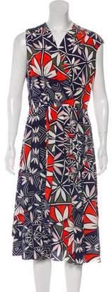 Tory Burch Silk Floral Midi Dress