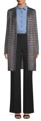 St. John Women's Inlaid Ribbon Tweed Jacket - Size 0