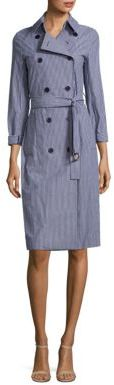 MICHAEL MICHAEL KORS Pane Striped Trench Coat $195 thestylecure.com
