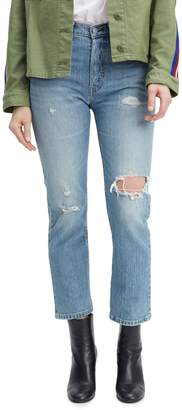 Levi's 501 Distressed Cropped Jeans Sweet Dream