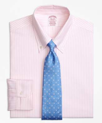 Brooks Brothers Original Polo Button-Down Oxford Traditional Relaxed-Fit Dress Shirt, Ground Stripe