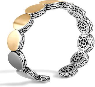 John Hardy Dot Silver & Gold-Plate Flex Cuff, 13.5mm