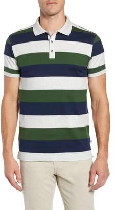 Bobby Jones Rule 18 Regular Fit Wide Stripe Polo