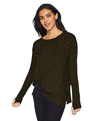 Michael Stars Women's Jasper poorboy Long Sleeve Scoop Neck Pullover