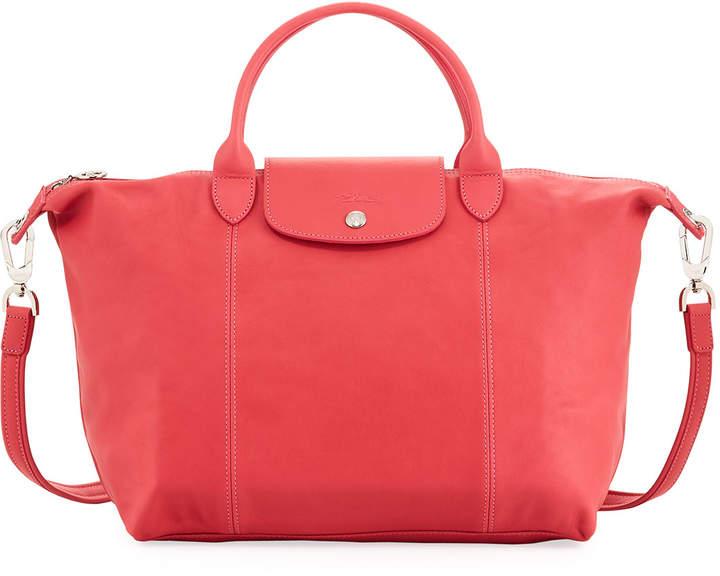 Longchamp Le Pliage Cuir Medium Leather Handbag