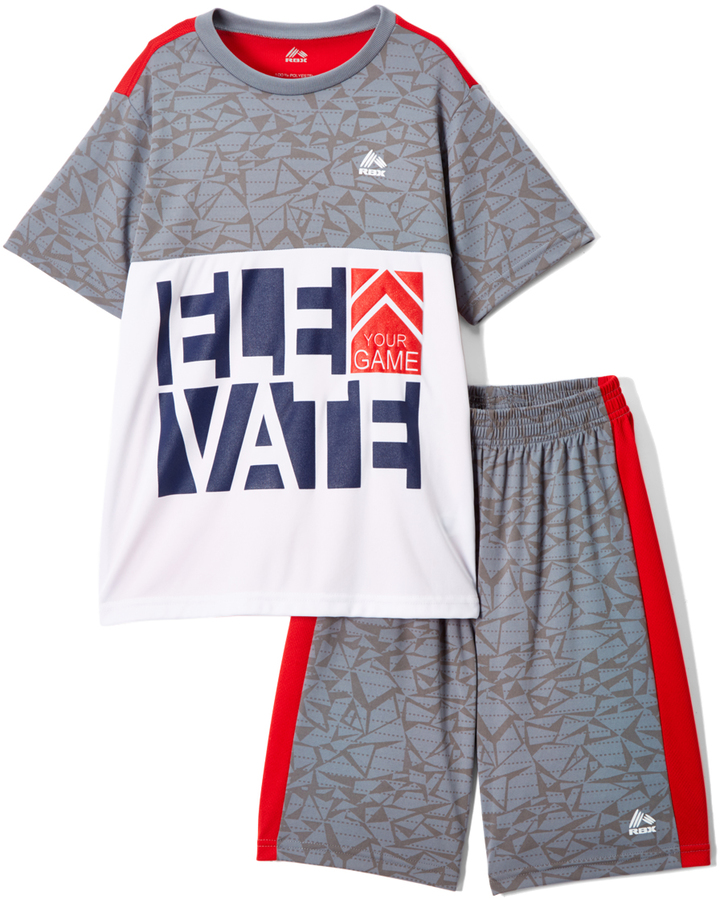 Collegiate Red & Gray Heather Tee & Shorts - Toddler