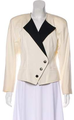 Courreges Structured Peak-Lapel Blazer
