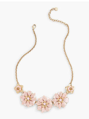 Talbots Tropical Blossoms Statement Necklace