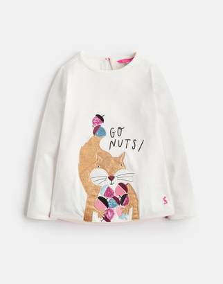 Joules Clothing Younger ava Long Sleeve Applique Tee