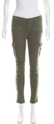 J Brand Zipper Accent Mid-Rise Jeans