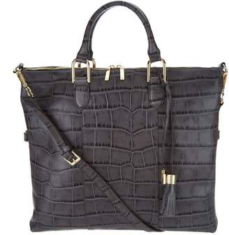 At Qvc Croco G I L Got It Love Embossed Italian Leather Convertible Satchel
