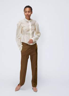Lemaire Long Sleeve Officer-Collar Shirt