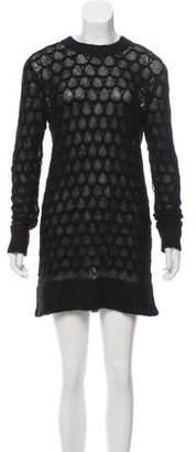 Helmut Lang Wool-Blend Sweater Dress