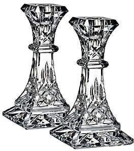 Waterford Lismore Lead Crystal Candlesticks/Set Of 2