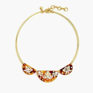 J.Crew Tortoiseshell-and-stone collar necklace
