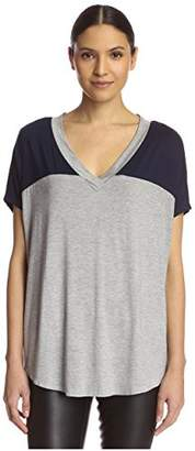 James & Erin Women's Color Block Tee
