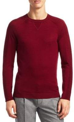 Saks Fifth Avenue MODERN Rib Detail Crewneck Sweater