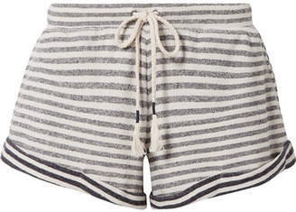 Skin - Clooney Striped Cotton-jersey Pajama Shorts - Navy