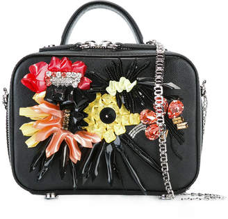 La Perla flower appliqué shoulder bag