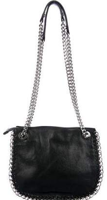 MICHAEL Michael Kors Leather Chain-Link-Accented Shoulder Bag