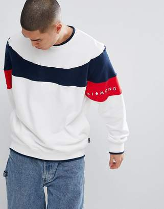 Diamond Supply Co. Fordham Sweat In White