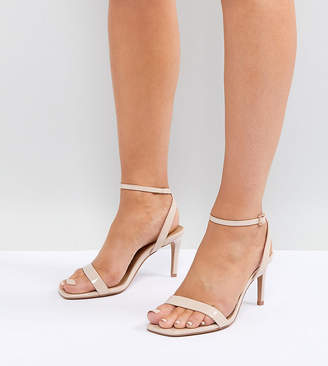 4021adaa21 Barely There Asos Design ASOS DESIGN Wide Fit Half Time heeled sandals