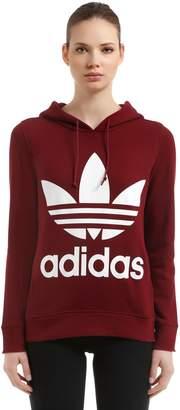 adidas Logo Hooded French Terry Sweatshirt