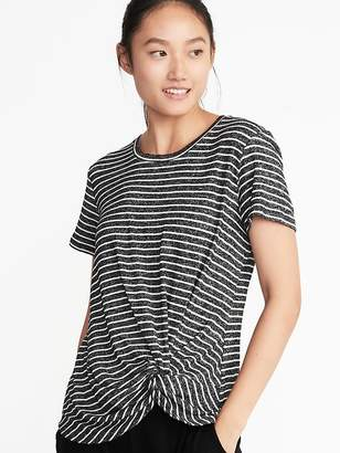 Old Navy Plush-Knit Knotted-Hem Sleep Tee for Women