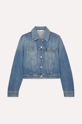 Stella McCartney Cropped Denim Jacket - Blue