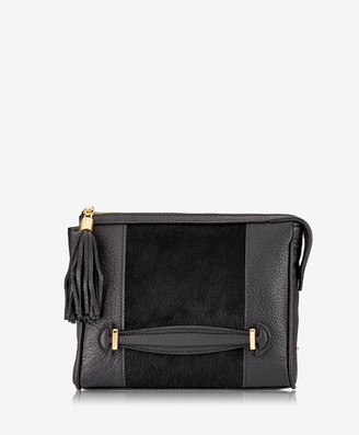 GiGi New York Dana Crossbody, Black Italian Haircalf