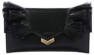 Jimmy Choo Isabella Laser-Cut Ruffled Clutch