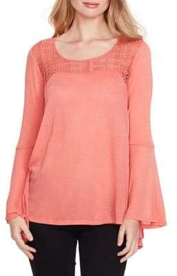 Jessica Simpson Lace Bell Sleeve Top