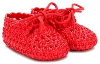 Mini Melissa woven crib shoes