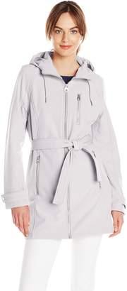 Calvin Klein Women's Classic Zip-Front Hooded Soft Shell Jacket