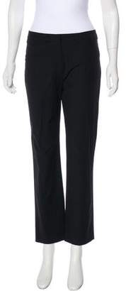 Nicole Farhi Wool High-Rise Pants