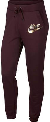 Nike Metallic Logo Jogger Knit Workout Pants