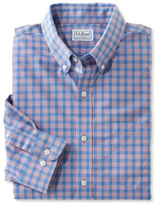L.L. Bean L.L.Bean Wrinkle-Free Kennebunk Sport Shirt, Slim Fit Check
