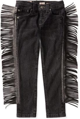 Ralph Lauren Faux-Leather Fringe Jeans, Toddler & Little Girls (2T-6X) $145 thestylecure.com