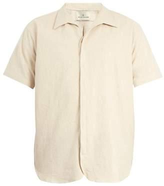 The Lost Explorer - Oryx Cotton Linen Short Sleeved Shirt - Mens - Beige