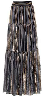 Peter Pilotto Metallic silk maxi skirt