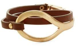 Kenneth Cole New York Double-Wrap Leather Bracelet