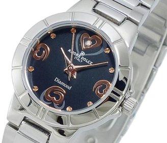Amore Dolce (アモーレ ドルチェ) - アモーレドルチェAMORE DOLCE クォーツ レディース 1Pダイヤモンド腕時計 AD13306-SSBK
