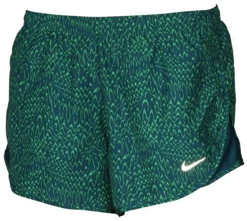 Nike Women's Dri-Fit Allover Print Tempo Running Shorts-Green-Large