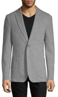 Saks Fifth Avenue Elbow-Patch Knit Blazer